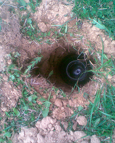 Burken begravs längs den underjordiska passagen ...