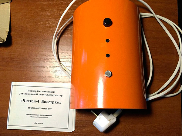 Ultraljudsrepelleren Chiston-4 är placerad, först och främst, som ett medel för att avvisa gnagare från rum.