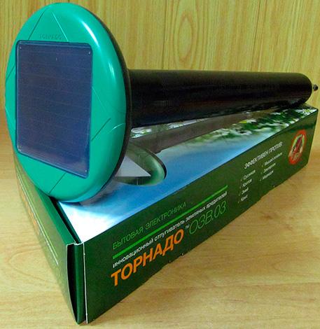 Tornado OZV 03 elektronikus anyagrátadó napelemmel.