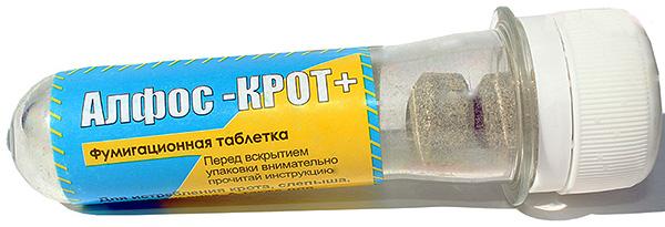 Időnként a vakondok megszabadulhatnak az Alfos-gázosító tablettáktól.