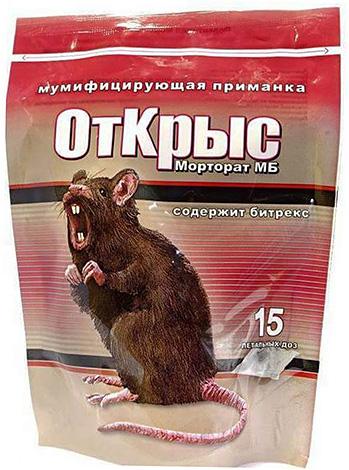 Poison de rats et de souris Mortorat.