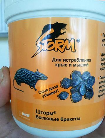Par exemple, le poison Storm peut être vendu dans de petits seaux contenant plusieurs briquettes de cire.