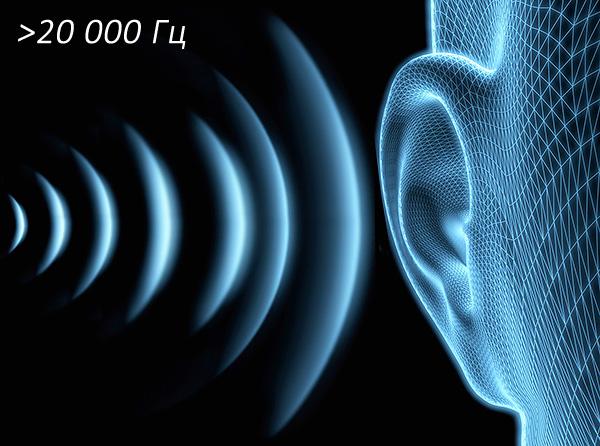 Les vibrations ultrasoniques ont une fréquence supérieure à 20 kHz et dans la grande majorité des cas, elles ne sont pas perçues par l'oreille humaine.