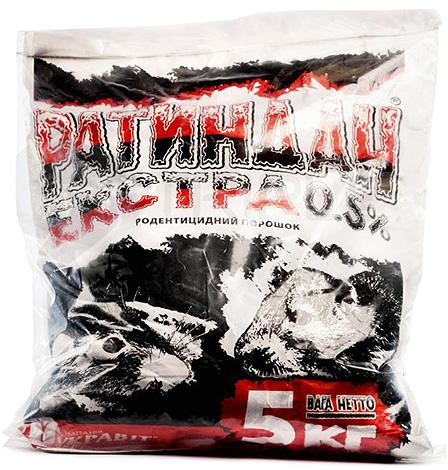 Ratindan Extra - gyógyszer, amely difenacin alapú.