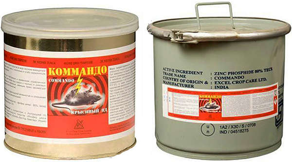 Lason para sa Commando rats at Mice (zinc phosphide)